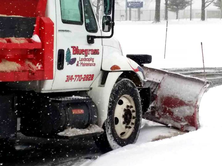 Bluegrass snow plow truck