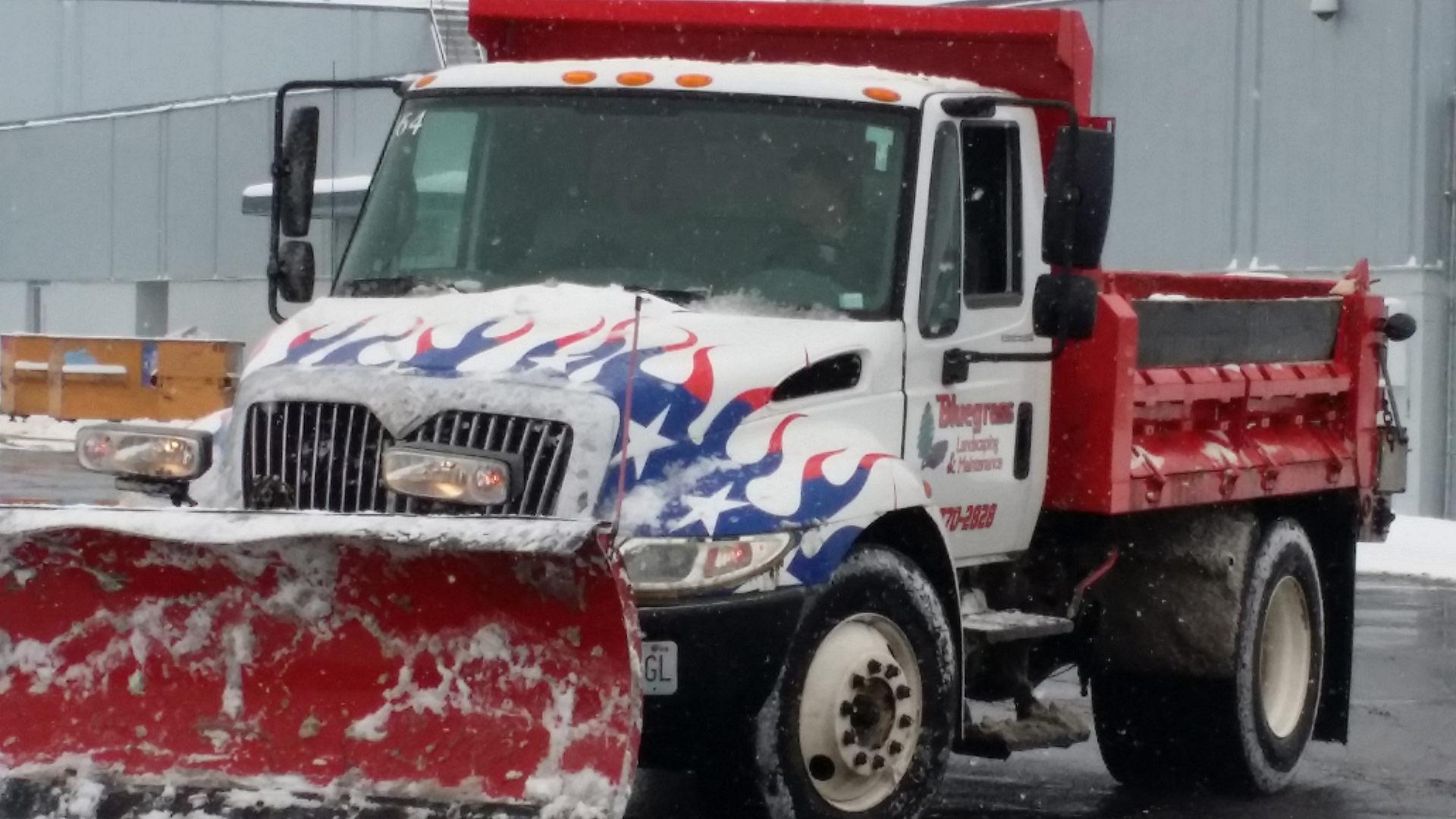 Bluegrass snow plow truck