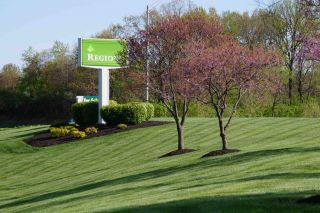 landscaping near business entrance